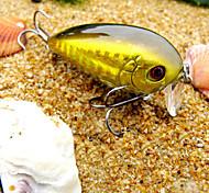 abordables -pcs Señuelos duros Manivela Blanco Oro Rojo g/Onza mm pulgada,Plástico duro Pesca de Mar Pesca de agua dulce