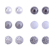 cheap -Women's Jewelry Set Stud Earrings European Vintage Costume Jewelry Silver Plated Ball Jewelry For Party Daily Casual