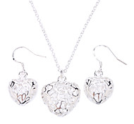 Women's Jewelry Set Fashion Party Special Occasion Anniversary Birthday Engagement Gift Silver Sterling Silver Alloy Earrings Necklaces