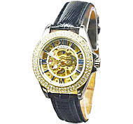 cheap -WINNER® Fashion Mechanical Women Skeleton Watch Auto Watches Crystal Diamond Wrist Watch Christmas Gift Cool Watches Unique Watches