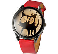 cheap -Women's Quartz Wrist Watch Casual Watch PU Band Cartoon Fashion Black White Red