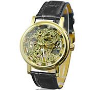 Недорогие -Hot! Мужские лица автоматического роскошного стали наручные часы Скелет Мужские механические часы 6