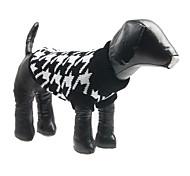 Недорогие -Собака Свитера Одежда для собак В клетку Сукно Костюм Для домашних животных Муж. Жен. Мода