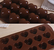 15 Grids Love Heart Pattern Silicone Cake Mould Bakewares Kitchen & Dining