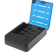 Недорогие -Soshine 4-Slot литий-ионная батарея Смарт зарядное устройство ж / 2-П Plug адаптер / Автомобильное зарядное устройство (для ЕС)