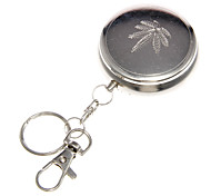 cheap -Stainless Steel Round Ashtray with Keychain