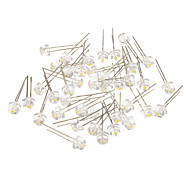 4 Different White Light LED Light Emitting Diodes (3-3.2V,40pcs)
