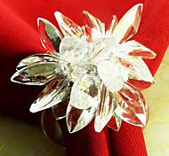 Недорогие -Бусы свадебный цветок Салфетка Кольцо набор из 12, акриловые Dia 4.5cm