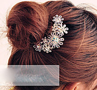 Z&X®  Purple Flower Crystal Hair Combs