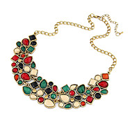 cheap -Women's Jewelry Shape Luxury Festival/Holiday Colorful European Statement Necklace Synthetic Gemstones Resin Alloy Statement Necklace