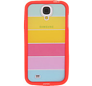 Colorful Rainbow TPU Hybrid Cover for Samsung Galaxy S4 Galaxy S Series Cases / Covers