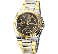 Men's Round Dial Alloy Band Quartz Analog Wrist Watch Cool Watch Unique Watch Fashion Watch