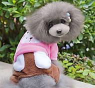 Недорогие -Собака Комбинезоны Одежда для собак Очаровательный Животные Синий Розовый Костюм Для домашних животных