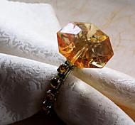 Недорогие -Алмаз Дизайн Салфетка кольцо, акриловые
