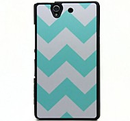 Blue Wave Pattern PC Hard Case with Black Frame for Sony Xperia Z/L36h