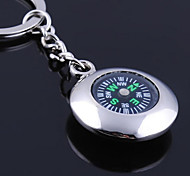 cheap -Personalized Engraved Gift Round Compass Shaped Keychain