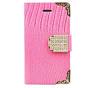 Joyland Gold Lace Zircon Crocodile Stripe Leather Case for iPhone 5(Assorted Color)