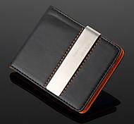 Недорогие -Подарочный именной бумажник из кожзама со слотом для кредитных карт и металлическим зажимом  для денег (надпись в пределах 10 символов)