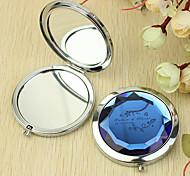 Персональный подарок цветочным узором Chrome компактное зеркало