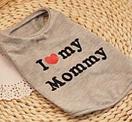 Gatto Cane T-shirt Abbigliamento per cani Traspirante Romantico Casual Compleanno Cuori Grigio Costume Per animali domestici