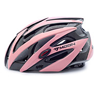MOON Cycling Black and Pink PC/EPS 21 Vents Protective Ride Helmet