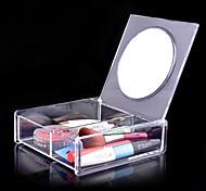 Aufbewahrung für Make-Up Kosmetik Box / Aufbewahrung für Make-Up Acryl einfarbig 14.8 x 15.0 x 4.6
