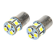 BA15S T18 1.6W 12VDC 110LM 9-LED White Light Car Light Bulbs