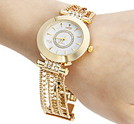 cheap -Women's Bracelet Watch Casual Watch Japanese Quartz Hollow Engraving Copper Band Sparkle Elegant Gold