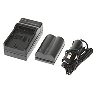 ismartdigi 1700mAh Camera Battery+Car Charger for Canon eos 300D 10D 20D 30D 40D 50D eos 5D kiss X50 T3 eos 1100D