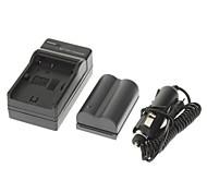 ismartdigi batterie de caméra 1700mAh + chargeur de voiture pour canon eos 300d 10d 20d 30d 40d 50d eos 5d baiser eos x50 t3 1100d