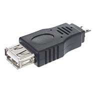 USB 2.0 una femmina al micro adattatore maschio / OTG Connettore Tablet / PC (Nero)
