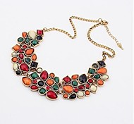 Women's Statement Necklaces Geometric Zircon Alloy European Costume Jewelry Fashion Luxury Jewelry For Wedding Party