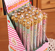 baratos -Lápis Caneta Lapiseiras Caneta, Plástico Preto Cores Aleatórias cores de tinta For material escolar Material de escritório Pacote de