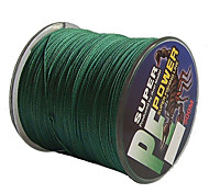 cheap -500M / 550 Yards PE Braided Line / Dyneema / Superline Fishing Line Green 30LB / 40LB 0.26,0.28 mm For Sea Fishing / Freshwater Fishing
