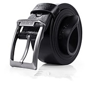 cheap -Men's Party Work Casual Leather Alloy Waist Belt - Solid Colored