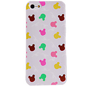 cheap -For iPhone 5 Case Transparent Case Back Cover Case Animal Hard PC iPhone SE/5s/5