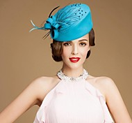 Women's Flower Girl's Wool Headpiece-Wedding Special Occasion Casual Outdoor Hats