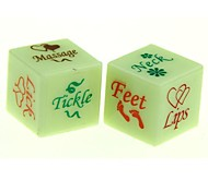 cheap -Lover's Glow-in-the-dark Dice Toy (2 PCS)