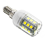 3W E14 LED Corn Lights T 27 leds SMD 5050 Dimmable Cold White 350-400lm 6000-6500K AC 220-240V