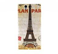 Kinston Eiffel Tower Pattern Plastic Hard Case for Sony L36h(Xperia Z)
