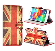 For Samsung Galaxy Case Card Holder / Wallet / with Stand / Flip / Pattern Case Full Body Case Flag PU Leather Samsung S5