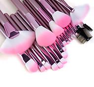 Недорогие -Профессиональный набор качественных кистей для макияжа с розовыми ручками (22 шт.)