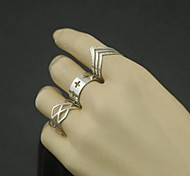 cheap -Women's Alloy Cross / Number - Geometric Hollow / Fashion / Simple Style Silver Ring For Party / Daily / Casual