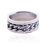 Кольца Новогодние подарки Бижутерия Нержавеющая сталь Мужчины7 8 9 10 Серебряный