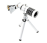 cheap -Universal Zoom 12X Telephoto Aluminum Cellphone Lens with Tripod