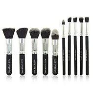 cheap -10 Pcs Black Professional Cosmetic Makeup Brushes Set Cosmetic Beauty Care Makeup for Face