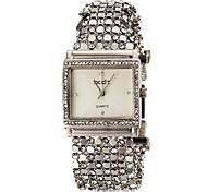 cheap -ASJ Women's Bracelet Watch Japanese Imitation Diamond Stainless Steel Band Casual / Elegant Silver