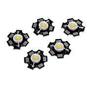 cheap -ZDM® 5pcs High Performance LED / High Power LED 100-120 lm 3 V Luminous / Bulb Accessory LED Chip Aluminum for DIY LED Flood Light