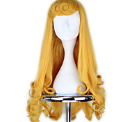 Parrucche Cosplay Cosplay Cosplay Oro Medio Anime Parrucche Cosplay 70 CM Tessuno resistente a calore Donna