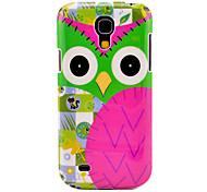 Cartoon Owl Pattern Hard Back Cover Case for Samsung Galaxy S4 Mini I9190